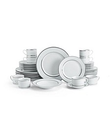 Leo Platinum 40-PC Dinnerware Set, Service for 8