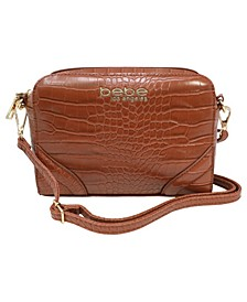 Trina Croco Crossbody