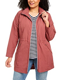 Plus Size Hooded Packable Anorak Jacket, Created for Macy's