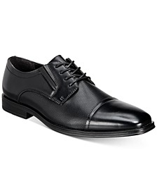 Men's Francisco Textured Cap-Toe Oxfords, Created for Macy's