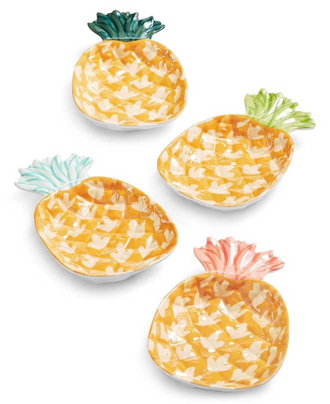 Martha Stewart Collection So-Cal Melamine Figural Appetizer Plates, Set of 4, Created for Macy's