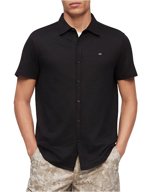 Calvin Klein Men's Liquid Knit Shirt
