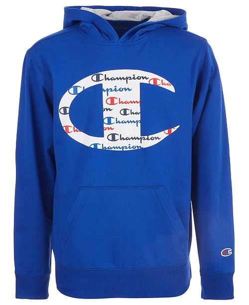 Champion Big Boys C Logo with Script Fill French Terry Hoodie