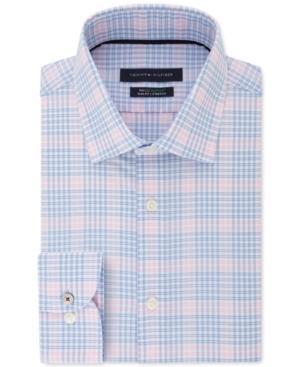 Tommy Hilfiger Men's Slim-Fit Blossom Check Dress Shirt