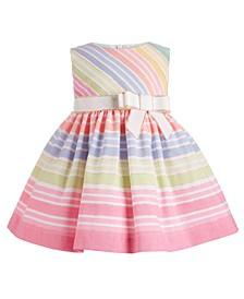 Baby Girls Rainbow Striped Dress