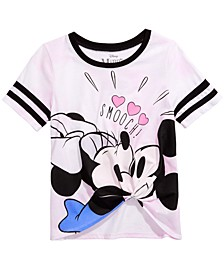 Big Girls Minnie Loves Mickey Tie-Front T-Shirt