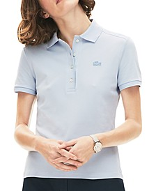 Women's Slim-Fit Short-Sleeve Stretch Piqué Polo Shirt
