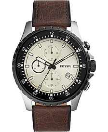Men's Chronograph Dillinger Brown Leather Strap Watch 48mm