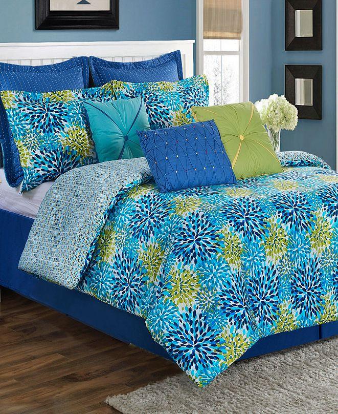 Fiesta Calypso Garden 3-Piece Twin Comforter Set