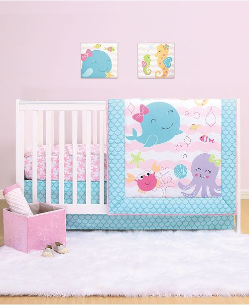 Belle Sea Sweetie 4-Piece Crib Bedding Set