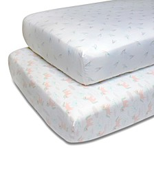 PS by Unicorns and Stars Fitted Crib Sheet 2-Pack