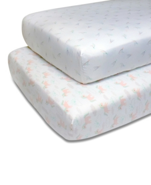 Ps by The Peanutshell Unicorns and Stars Fitted Crib Sheet 2-Pack Bedding