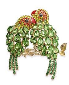 Gold-Tone Multi-Stone Parrot Pin, Created For Macy's