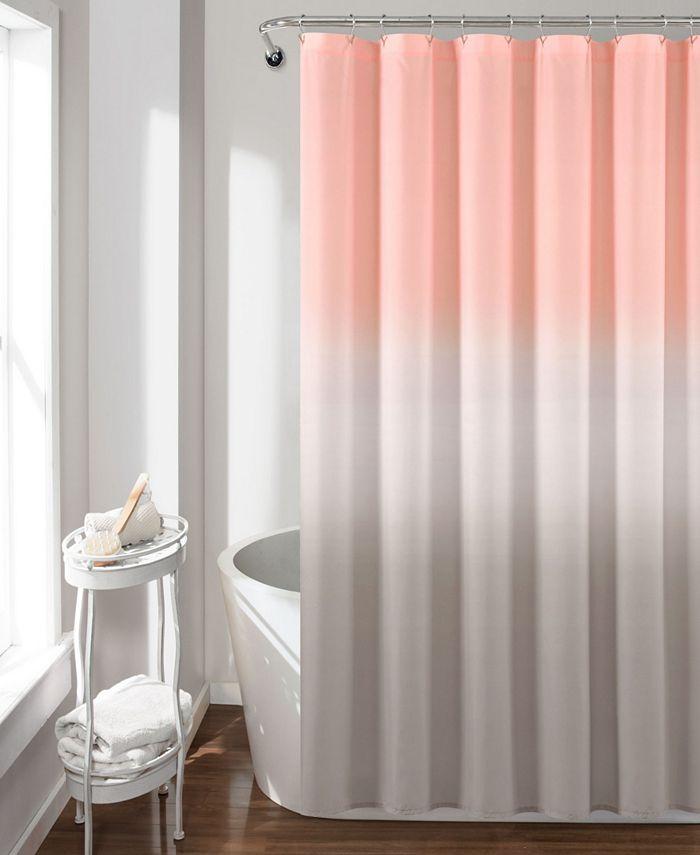 "Lush Décor - Umbre Fiesta 72"" x 72"" Shower Curtain"