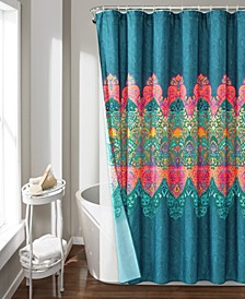 Boho Chic 14Pc Shower Curtain Set