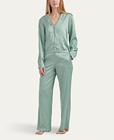 Women's Notch Collar Pajama Set, Online Only
