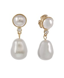 Pearl Drop Clip Earrings