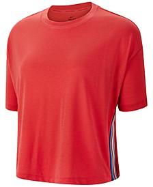 Women's Pro Dri-FIT Stripe Cropped Training T-Shirt