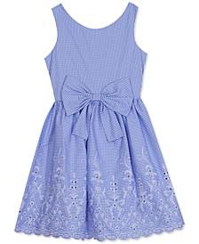 Big Girls Embroidered Eyelet Dress