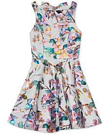 Big Girls Plus Size Floral Skater Dress