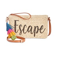 Deals on INC International Concepts INC Tropical Straw Crossbody
