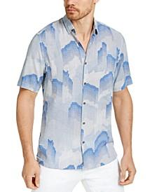 Men's Fallen Geo Print Shirt, Created for Macy's