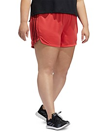 Plus Size Striped Shorts