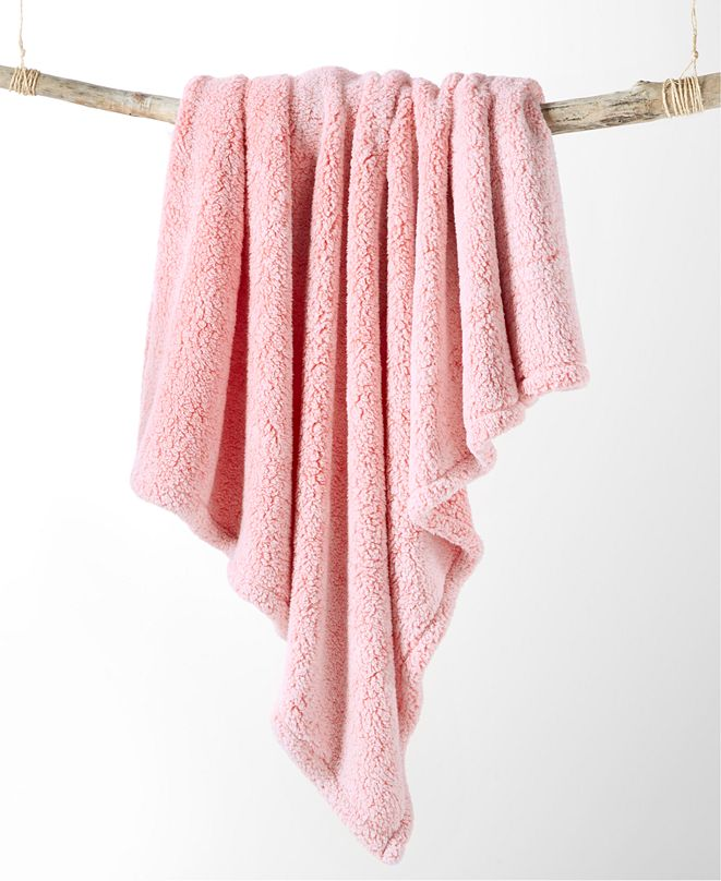 Martha Stewart Collection Sherpa Throw, Created for Macy's