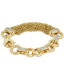 Diamond Multi-Chain Link Bracelet (1/2 ct. t.w.) in Gold-Tone Sterling Silver Vermeil