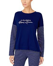 Signature Logo-Print Pajama Top