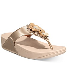 Lulu Flower Toe-Thong Sandals