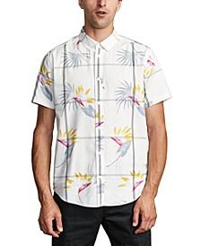 Men's Fillmore Floral Windowpane-Print Shirt