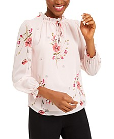 Floral-Print Ruched Blouse, Created For Macy's
