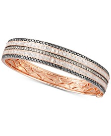 Exotic® Diamond Bangle Bracelet (4-7/8 ct. t.w.) in 14k Rose Gold