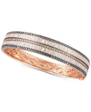Exotic Diamond Bangle Bracelet (4-7/8 ct. t.w.) in 14k Rose Gold