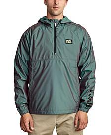 Men's Hazed Iridescent DWR 1/2-Zip Hooded Jacket
