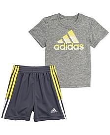 Baby Boys 2-Pc. Heathered T-Shirt & Shorts Set