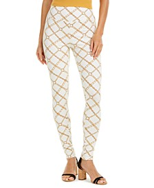INC Women's Chain-Print Leggings, Created for Macy's