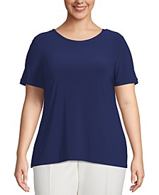 Plus Size Button-Back T-Shirt