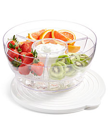 Martha Stewart Collection Americana Round Food Storage-on-Ice Container, Created for Macy's