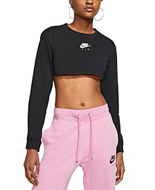 Women's Air Cotton Cropped Long-Sleeve Top