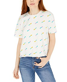 Juniors' Moody Graphic Cropped T-Shirt