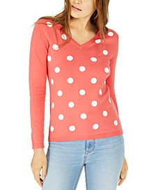Polka-Dot Cotton Sweater