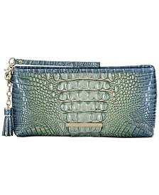 Melbourne Embossed Leather Kayla Clutch
