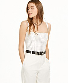 Dot Cropped Tank Top, Created for Macy's
