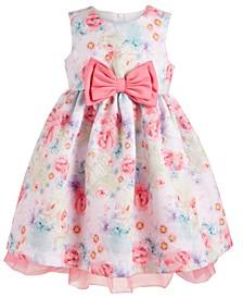 Baby Girls Watercolor Floral-Print Dress
