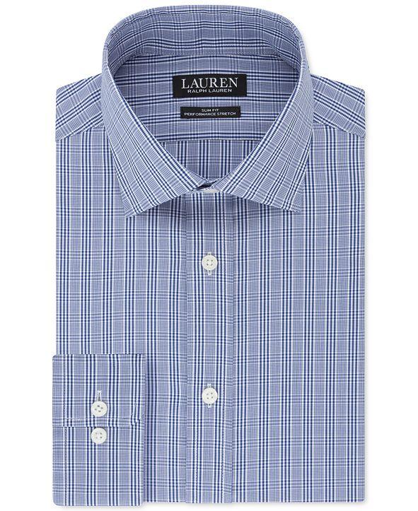 Lauren Ralph Lauren Men's Slim-Fit Ultraflex Check Dress Shirt