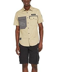 Men's Colorblocked Two-Pocket Shirt