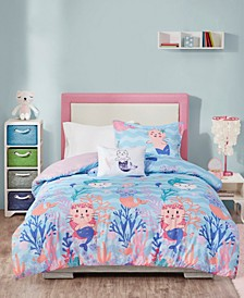 Playful Purrmaids 3-Piece Twin Comforter Set