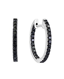 Black Diamond (3/4 ct. t.w.) Earring in 14K White Gold